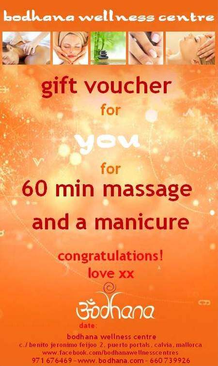 voucher for massage